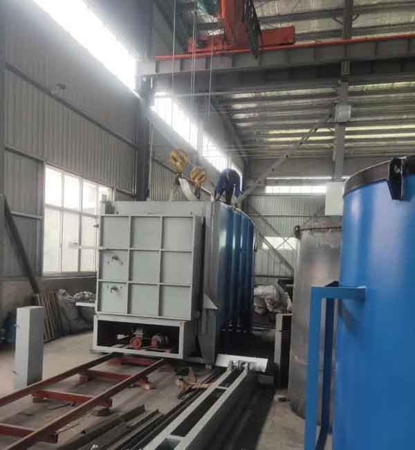 安徽大新工业炉发往湖北黄石200KW台车炉