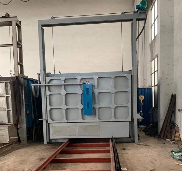 安徽大新工业炉有限公司在无锡顺利调试500KW台车炉完成!